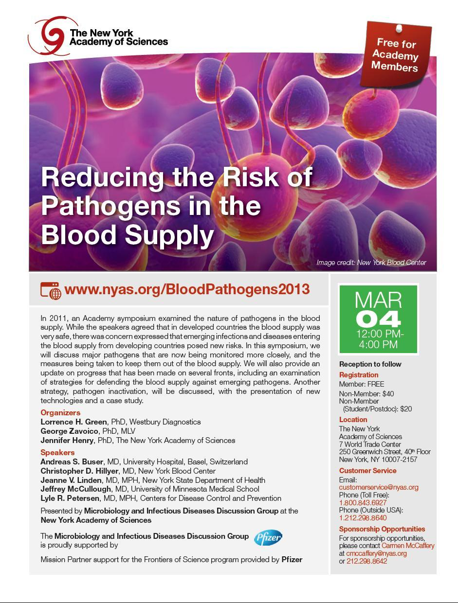 Reducing the Risk of Pathogens in the Blood Supply